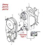 Suzuki Timing Belt Tensioner Type 1 JA11V JA11C
