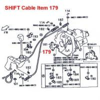 Daihatsu Hijet Shift Cable S82, S83 4 Speed