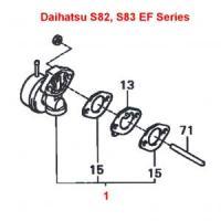 Daihatsu Hijet S80, S81, S82, S83 Mechanical Fuel Pump