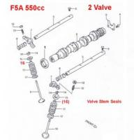 Suzuki Carry F5A Valve Stem Seals 2 Valve
