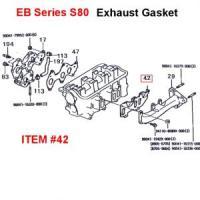 Daihatsu EB Series Exhaust Manifold Gasket S80 Series