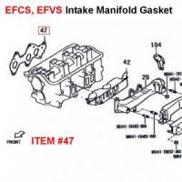 Daihatsu EFCS, EFVS EFNS EFCK EFSE Series Intake Gasket