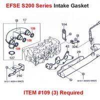 Daihatsu S200, S210 EFSE Intake Manifold Gasket