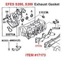 Daihatsu S200, S300 EFSE Exhaust Gasket