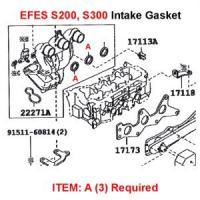 Daihatsu S200, S300 EFSE Intake Gasket Set