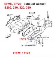 Daihatsu S200, S300 EFVE, EFVN, EFDET, HYBRID Exhaust Manifold Gasket