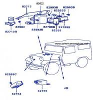 Mitsubishi Jeep: J55, J53 Electrical Relay & Control: Horn Relay