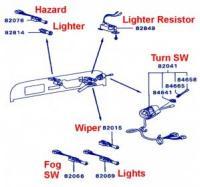 Mitsubishi Jeep J50 Series Turn Signal Switch Assembly