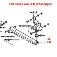 Daihatsu Hijet Front Lower A-Arm LH S81, S83 Series (all) 4WD